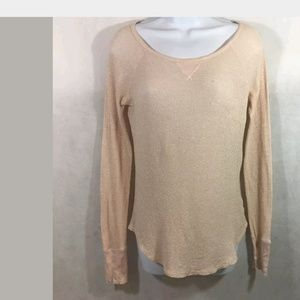 American Eagle Soft Metallic Long sleeve tee Med